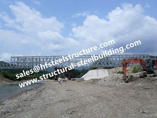 China Prefabricated Steel Bailey Bridge Modular Designed , Temporary Emergency Structural Steel Bridge Galvanized supplier
