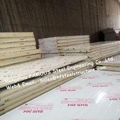 China Sliding Door / Swing Door PU Cold Room Panel Thickness 100mm For Walk In Freezer supplier