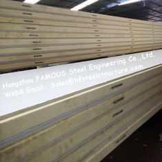 China Polystyrene Refrigerator Room Panels 42kg Density With Color Steel / Stainless Steel Plate	External supplier
