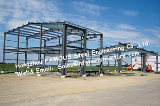 China Black Prefabricated Steel Buildings , Structural Steelworks Building Australia New Zealand Standard supplier