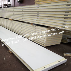 China Insulation Material Polyurethane Cold Room Panel 12kg Density For Cold Storage supplier