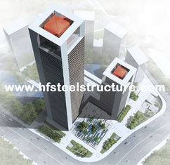 China Industrial Prefabricated Steel Frame Prefab Building, Multi-Storey Steel Building supplier