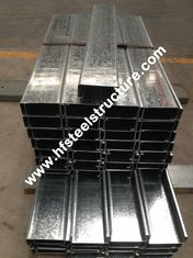 China Hot Dipped Galvanised Steel Purlines By Galvanizing Steel Strip For Prefab House supplier