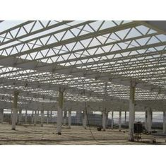 China Q345 Steel Structure / V Brace Metal Truss Buildings With Welded / Hot Rolled H-beam supplier