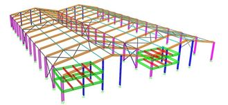 China Portal Steel Frame Structural Engineering Designs , Normal / Special Structure Type supplier