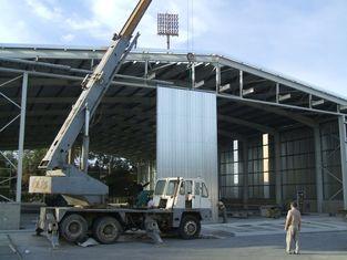 China Bespoken Pre-engineered Steel Aircraft Hangars Straight Column Steel supplier