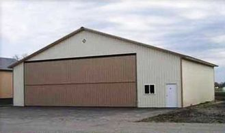China PEB Steel Aircraft Hangars With 26Ga Color Steel Corrugated Panels supplier