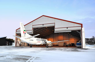China Clearspan Roll-up Doors Steel Aircraft Hangars Pre-engineered With Steel Trusses supplier