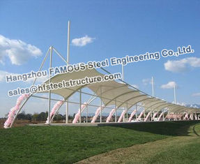 China Membrane Structure Commercial Steel Building With PVC PVDF PTFE supplier