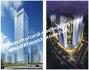 China Q345B Multi-storey steel prefab buildings For Residential Hotel And Office Fabricated Contractors factory