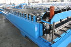 China Steel Tile Corrugated Roll Forming Machine By Chain / Gear factory