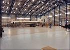 China I / H Beams Constructed Metal Aircraft Hangar Buildings Providing Grand Interior Space factory