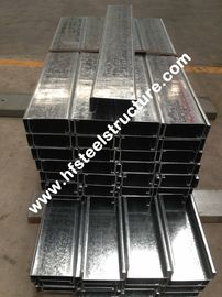Hot Dipped Galvanised Steel Purlines By Galvanizing Steel Strip For Prefab House