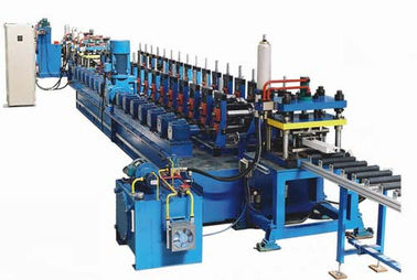 16 Main Rollers Cold Rolling Machine For Steel / Metal CZ Purlins