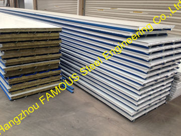 Construction PU Insulated Sandwich Panels Polyurethane Foam Steel