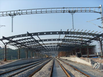 Railway Station Structural Metal Truss Buildings, Rust-proof Painting with 2-4 Layers