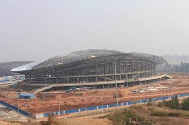 OEM Steel Structure, Prefabricated Pipe Metal Truss Buildings and Sports Stadiums