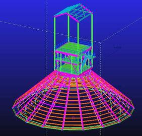 Custom Hot Dip Galvanized, Waterproof, Prefabricated Steel Structural Engineering Designs