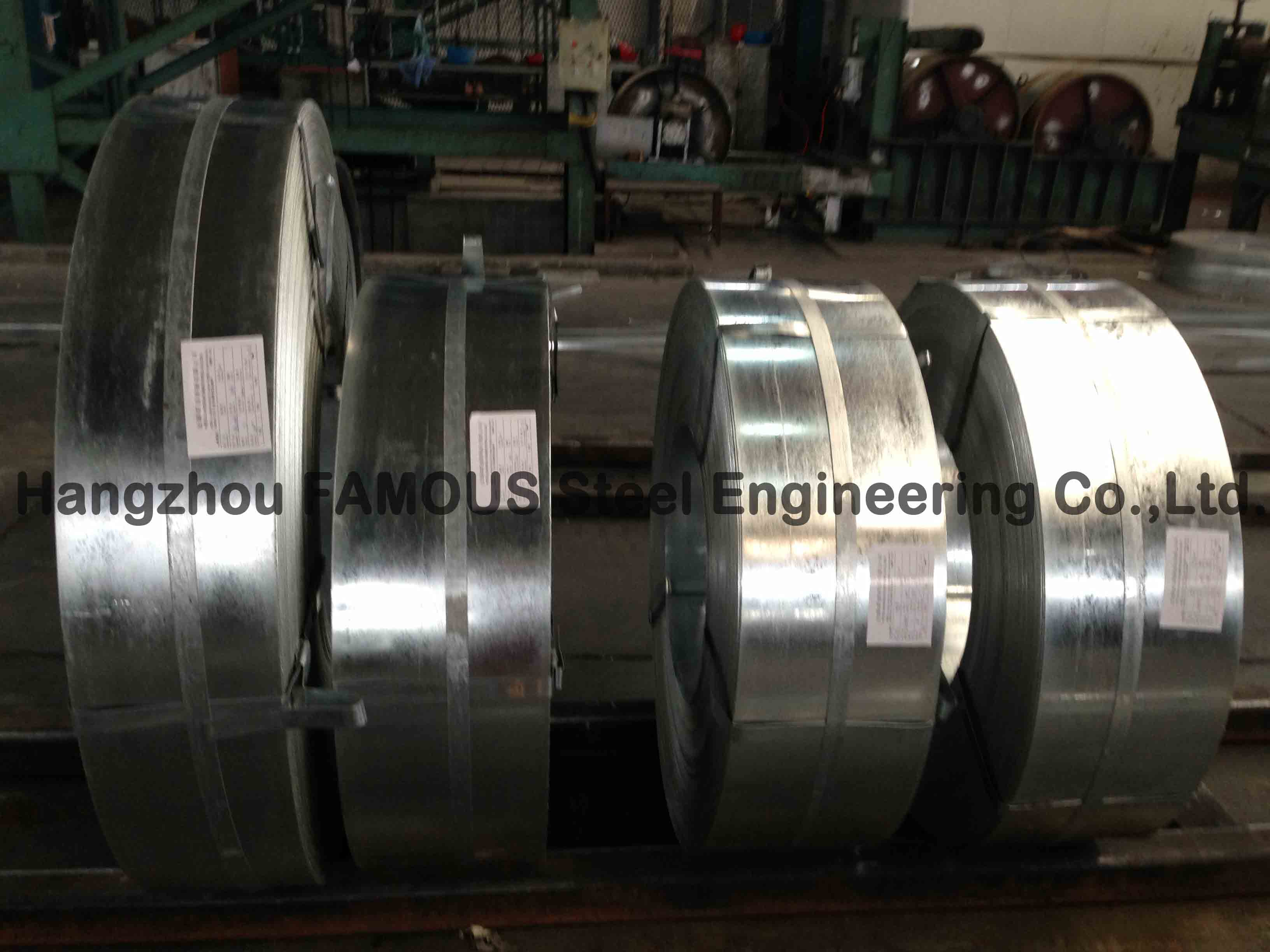 Cold Rolled Hot Dipped Galvanized Steel Strip Galvanized Steel Coil 600mm - 1500mm Width
