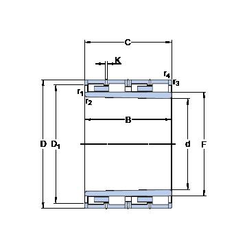BC4B 457939 VAA SKF Cylindrical Roller Bearings