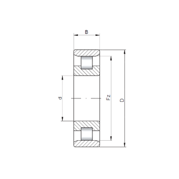 N208 ISO Cylindrical Roller Bearings