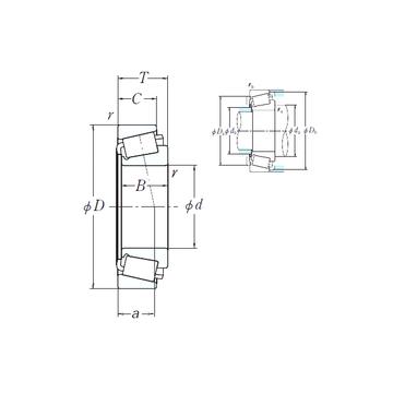 EE350750-N1/351687 NSK Cylindrical Roller Bearings