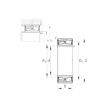 24128-E1-2VSR-H40 FAG Spherical Roller Bearings